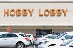Hobby Lobby entrance. WILSON, NC - March 28, 2018: The Hobby Lobby entrance to the location in Wilson, NC stock images