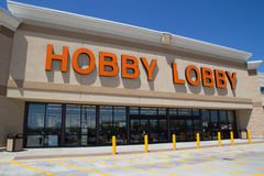 Hobby Lobby. JACKSONVILLE, FL - APRIL 21, 2014: Front of a Hobby Lobby store. Hobby Lobby is a retail chain of arts and crafts stores in the U.S. As of 2012, the royalty free stock photo