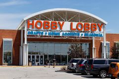 Westfield - Circa June 2018: Hobby Lobby Retail Location. Hobby Lobby is a Privately Owned Christian Principled Company I. Hobby Lobby Retail Location. Hobby royalty free stock images