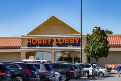 The Hobby Lobby Store. Lancaster, PA, USA - October 18, 2018: Hobby Lobby Stores is a private for-profit corporation that owns and operates a chain of American stock photo