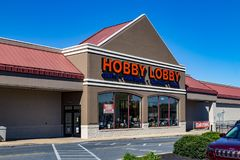 Hobby Lobby Store in Lancaster. Lancaster, PA, USA - October 18, 2018: Hobby Lobby Stores is a private for-profit corporation that owns and operates a chain of royalty free stock images