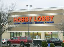 Hobby Lobby Stores front stock photo