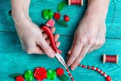 Hobby making jewelry Stock Photography