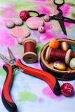 Hobby making jewelry Stock Photo
