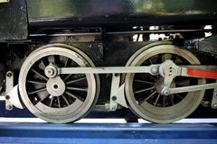 Hobby: model steam train engine wheels Royalty Free Stock Image