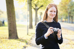 Hobby Photographer in the Fall Stock Photos