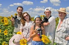 hobby rodzinna fotografia Obrazy Stock