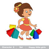 Hobby shopping. Baby character Stock Photography