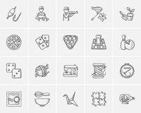 Hobby sketch icon set. Hobby sketch icon set for web, mobile and infographics. Hand drawn hobby icon set. Hobby vector icon set. Hobby icon set on white royalty free illustration