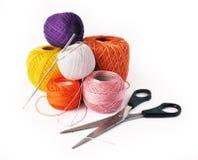 Hobby - strumenti del crochet Fotografia Stock