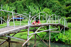 Hobby of thai children people in holiday is fishing at Baan Nato. Ng on August 30, 2015 in Phrae, Thailand Royalty Free Stock Photo