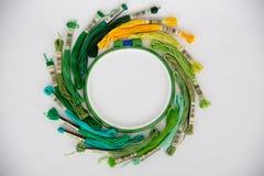 hobby wielu ludzi robi na drutach przędzy Obraz Stock