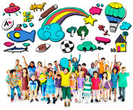 Hobby wyobraźni zabawy twórczości aktywności inspiraci pojęcie Obraz Royalty Free