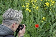 Hobbyfotograaf royalty-vrije stock fotografie