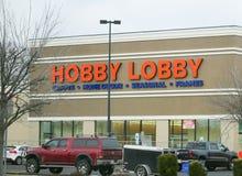 Hobbylobbydiversehandeln beklär arkivfoto