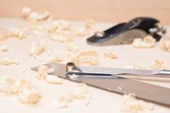 Hobel sah Tischlerwerkzeuge, Modeerscheinung Stockbild