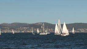 Hobert la capital de la isla de Tasmania en Australia almacen de metraje de vídeo