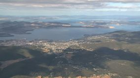 Hobert la capital de la isla de Tasmania en Australia almacen de video