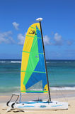 Hobie Cat catamaran ready for tourists at Bavaro Beach in Punta Cana Royalty Free Stock Image