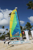 Hobie Cat catamaran ready for tourists at Playa Bayahibe Beach in La Romana Stock Images