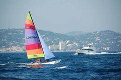 Hobie cat sailing Stock Photo