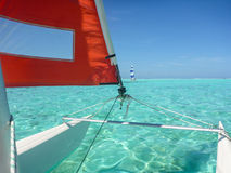 Hobie Cat Sailing royalty-vrije stock foto's