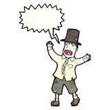 hobo loco de la historieta stock de ilustración