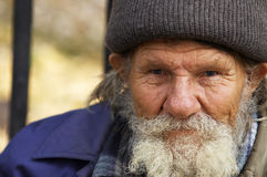 Hobo man. Focus point on the eyes(special photo f/x Stock Photography