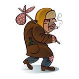 Hobo sin hogar del mendigo ilustración del vector