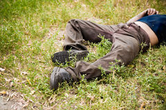 Hobo sleep Stock Photography