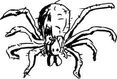 Hobo Spider Outline Stock Photography
