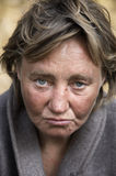 Hobo woman. Focus point on the eyes(special photo f/x Stock Photos