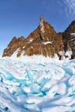 Hoboi cape on Baikal lake stock image