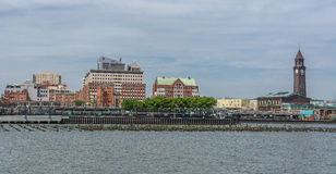 Hoboken镇视图 库存照片