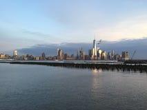 从Hoboken, NJ的纽约 图库摄影