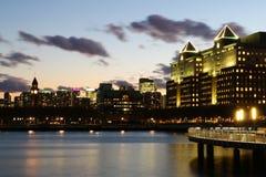 Hoboken dopo il tramonto Immagini Stock Libere da Diritti