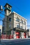 Three Quarter View of the Hoboken Fire Department Headquarters royalty free stock photography