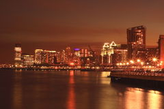 Hoboken nella notte Fotografie Stock