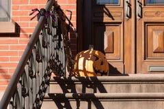 Hoboken Halloween Decorating Stock Photography