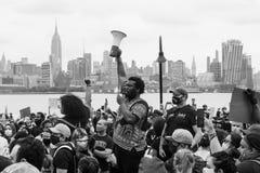 Hoboken, NJ / USA - June 5th, 2020: Black Lives Matter Peaceful Protest in Hoboken, NJ