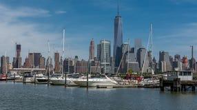 Hoboken shipyad/yatchp Royaltyfria Bilder