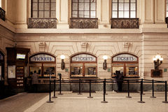 Hoboken slutliga biljettbås arkivbild