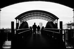 Hoboken slutliga färjaskeppsdockor royaltyfria bilder