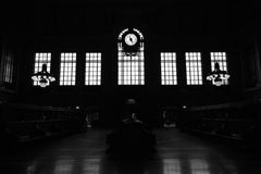 Hoboken slutligt väntande rum arkivbilder