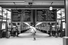 Hoboken terminalpendlare arkivfoton