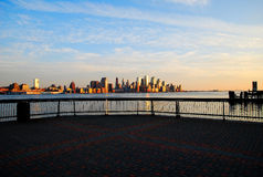 Hoboken waterfront Stock Photos