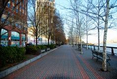 Hoboken waterfront walkway Royalty Free Stock Photos
