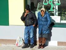 hobos Slovakia mały uliczny miasteczko Obraz Stock