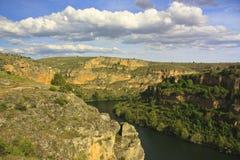 hoces de Duraton,西班牙风景  库存图片