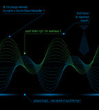 Hoch entwickelte Dekoration der Kurve 3d, Illustration des Vektors eps8 Stockfotografie